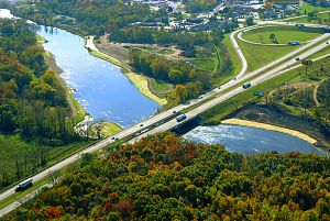Aerials Photo of Kalamazoo River at Plainwell - Otsego